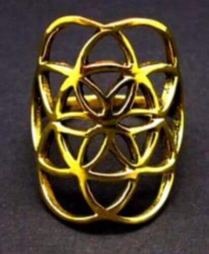 Bague Bronze Fleur de Vie XL
