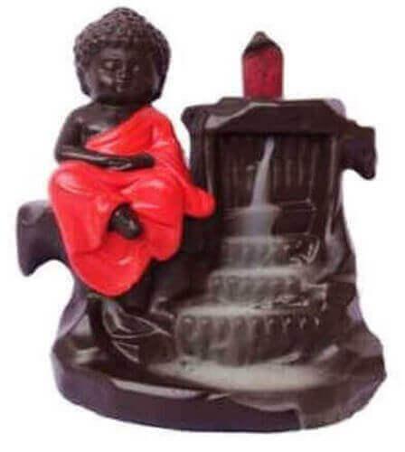 Fontana di Buddha rosso di riflusso del flusso di incenso 15 cm