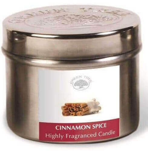 Green Tree Candle Cinnamon Spices 150g