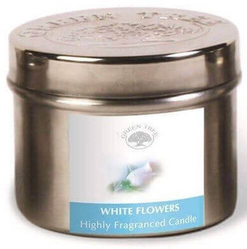Candela Green Tree White Flowers 150g