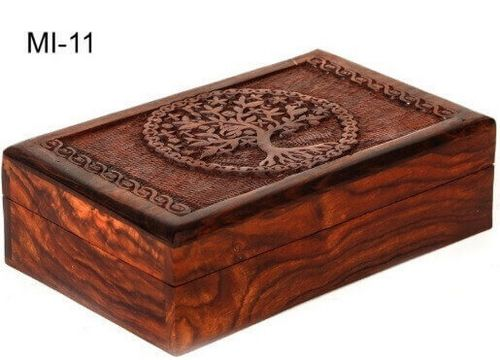Boîte à Bijoux Bois Arbre de Vie 20cm