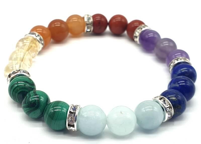 Bracelet 7 Chakras PREMIUM 3-Mix perles 8mm