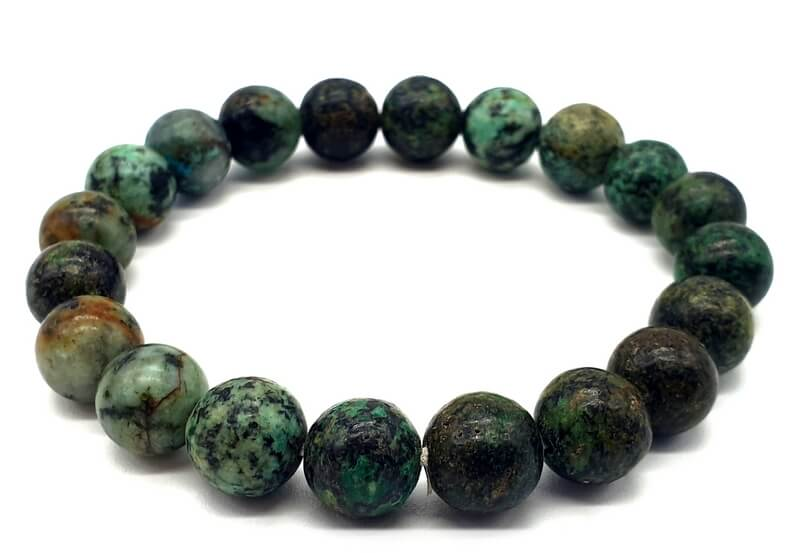 Bracelet Turquoise Africaine perles 10mm