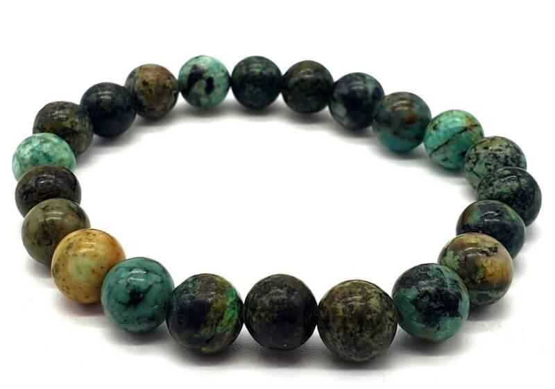 Bracelet Turquoise Africaine perles 8mm
