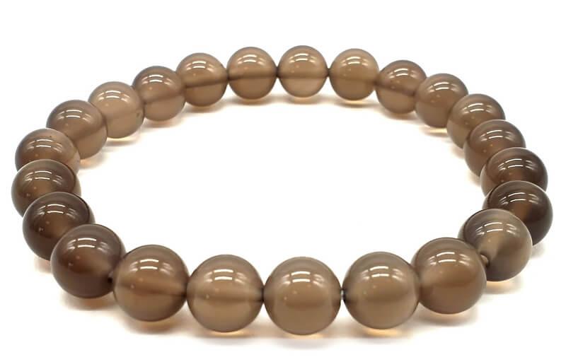 Bracelet Agate Grise perles 8mm