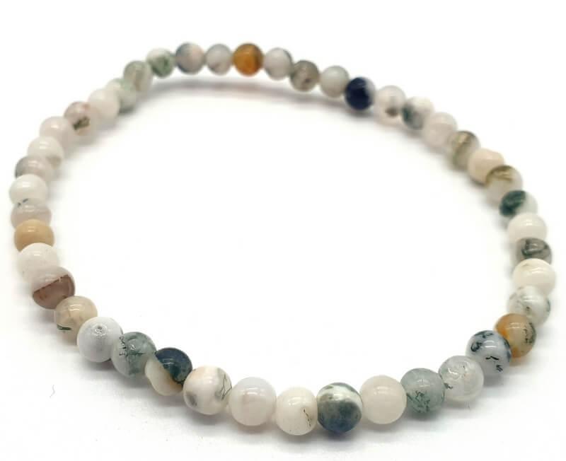 Bracciale in agata Perle d'albero 4mm