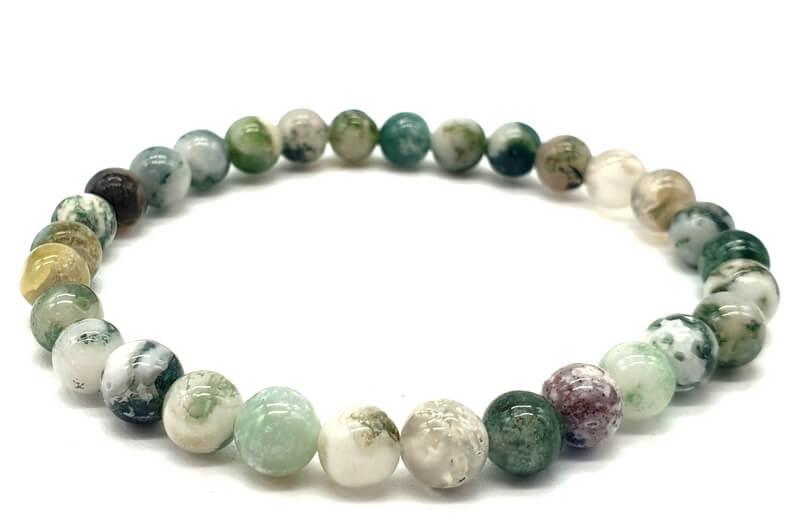 Bracelet Agate Arbre perles 6mm