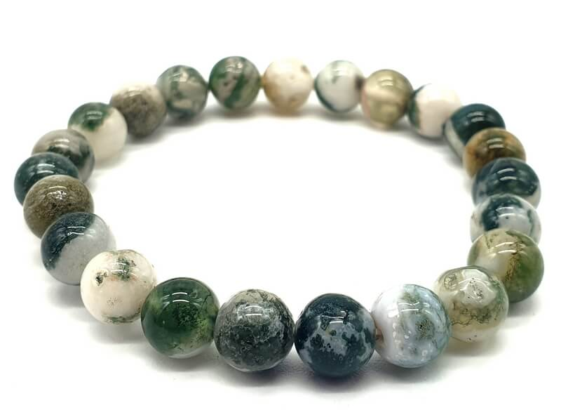 Bracelet Agate Arbre perles 8mm