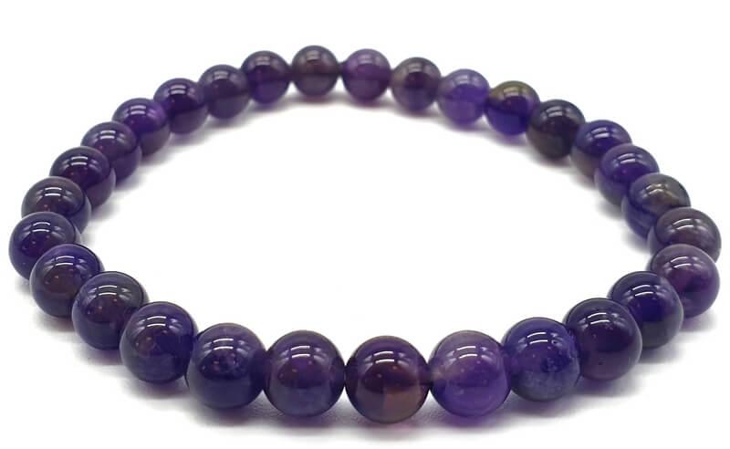 Bracelet 'Dark' Améthyste Perles 6mm