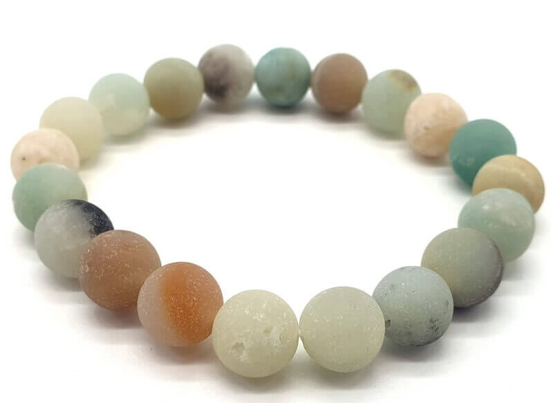 Bracelet Amazonite Multi perles 10mm
