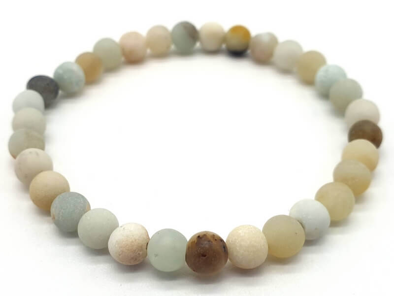 Bracelet Amazonite Multi perles 6mm