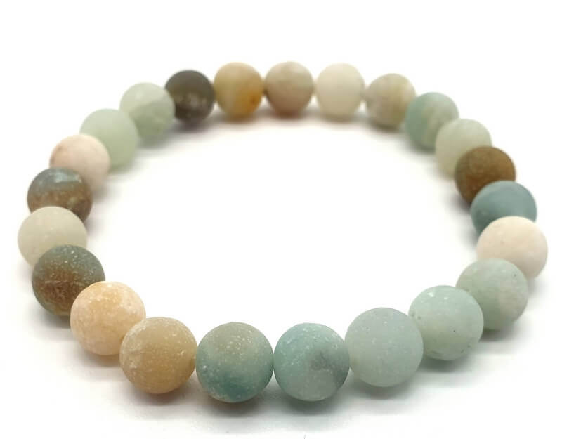 Bracelet Amazonite multi perles 8mm