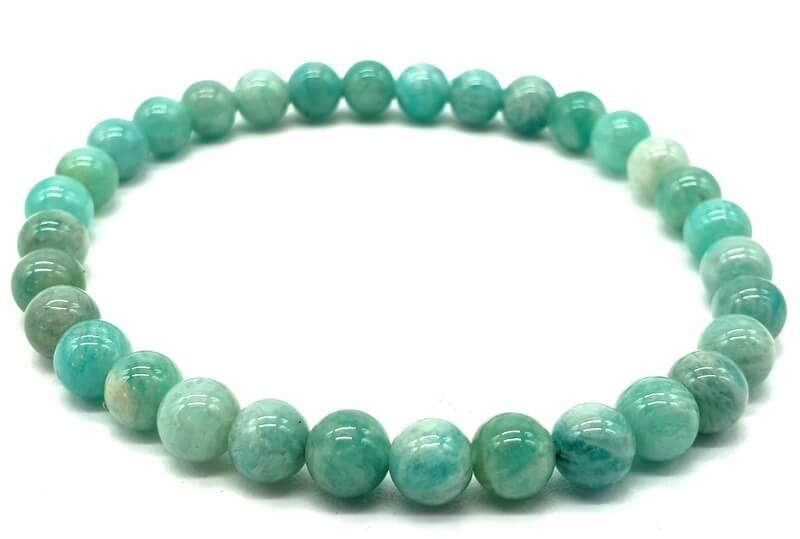 Bracelet Amazonite Extra perles 6mm