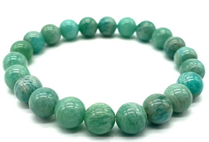 Bracelet Amazonite Extra perles 8mm