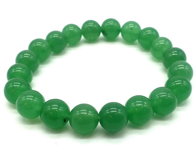 Bracciale in avventurina verde con perle 10mm