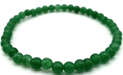 Bracciale in avventurina verde con perline 4mm