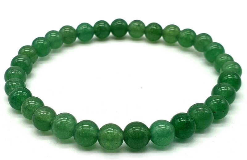 Bracciale Avventurina Verde perline 6mm