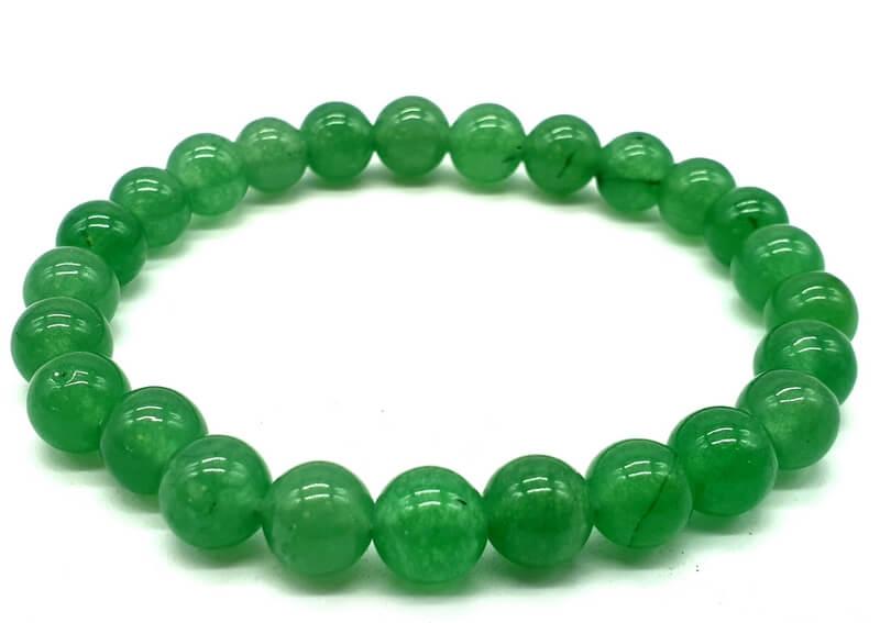 Bracciale Avventurina Verde perline 8mm
