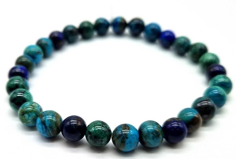 Bracciale Azzurite perle 6mm