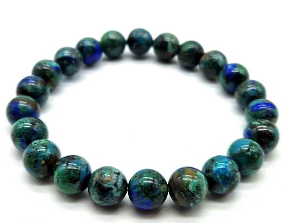 Bracelet Azurite perles 8mm