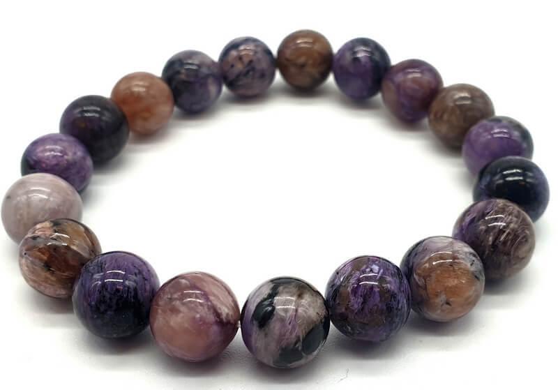 Bracelet Charoïte perles 10mm