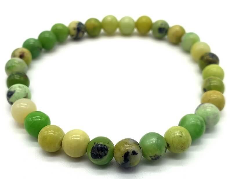 Bracciale Chrysoprase perles 6mm
