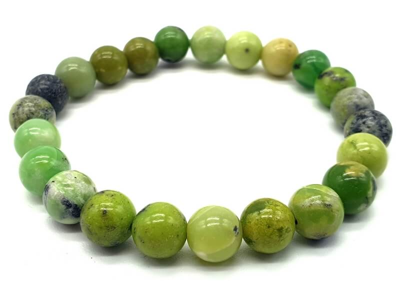 Bracelet Chrysoprase perles 8mm