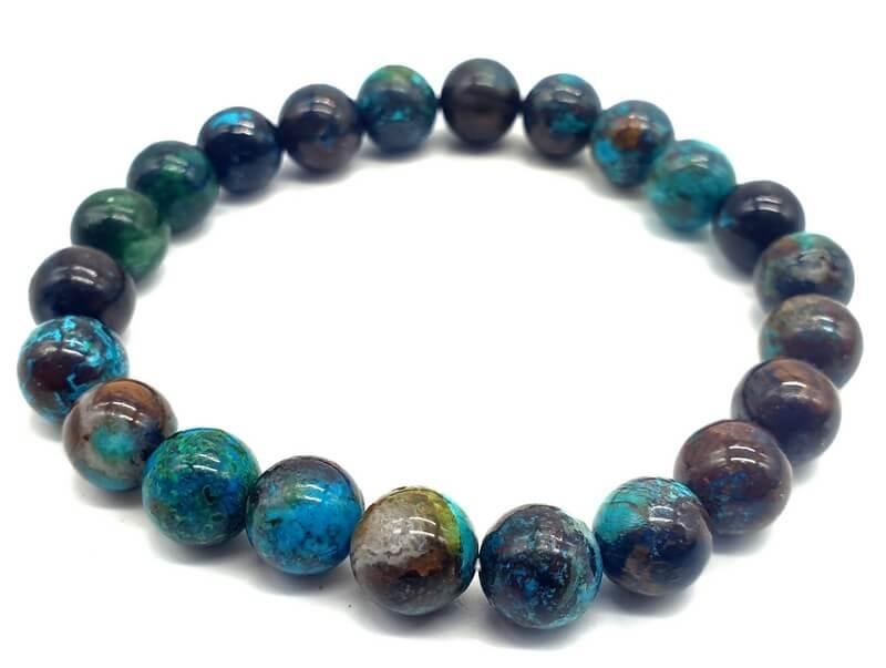 Bracelet Chrysocolle perles 8mm