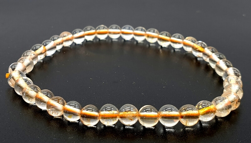 Bracelet Citrine Naturelle perles 4mm