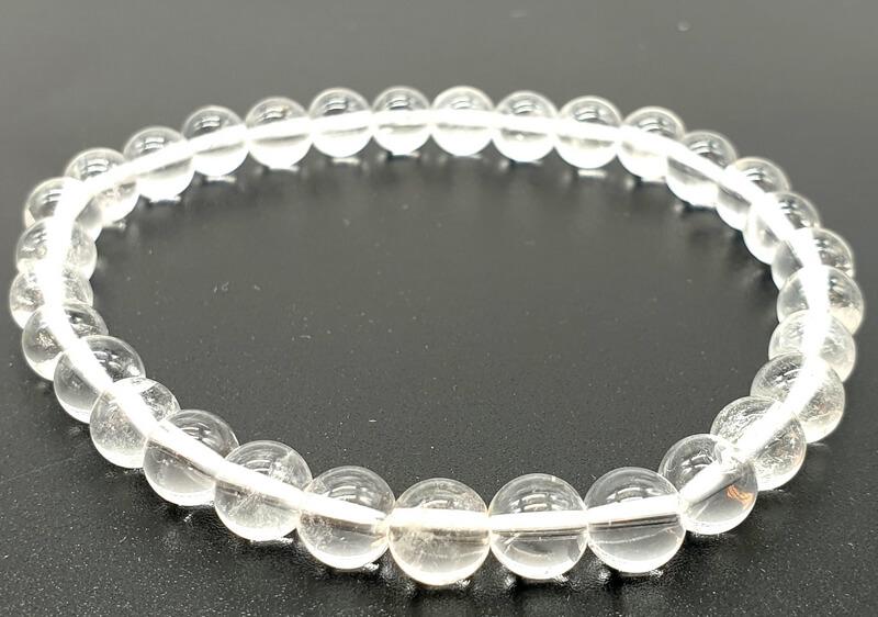 Perle Cristallo di Rocca perline 6mm