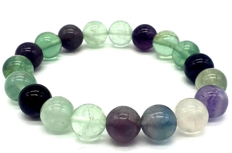 Bracelet Fluorite perles 10mm
