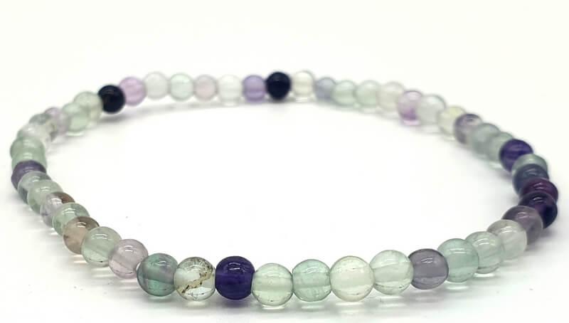 Bracelet Fluorite perles 4mm