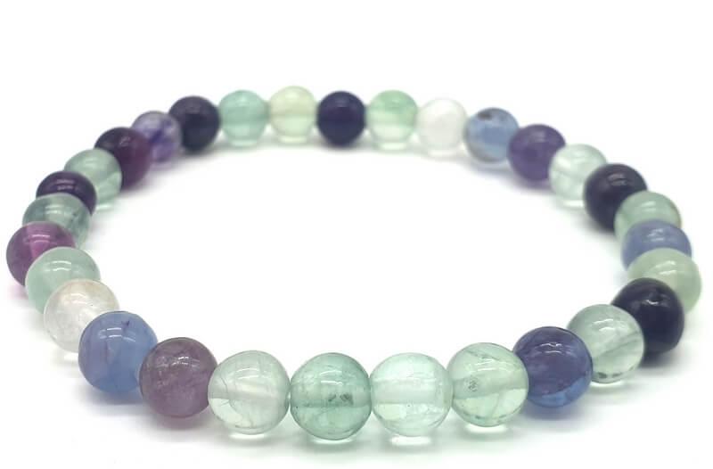 Bracelet Fluorite perles 6mm