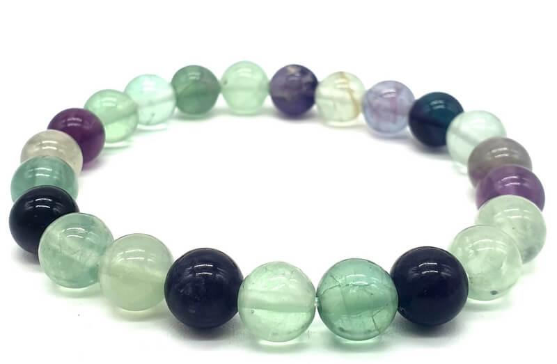 Bracelet Fluorite perles 8mm