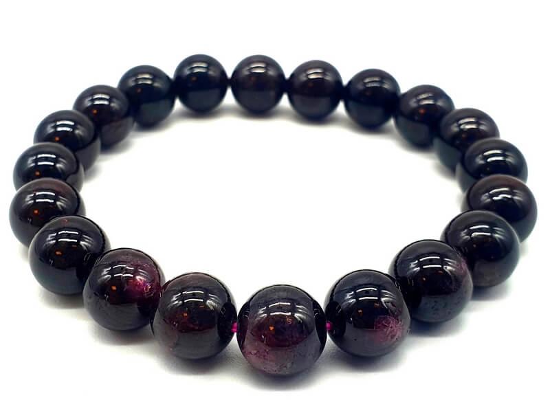 Bracelet Grenat perles 10mm