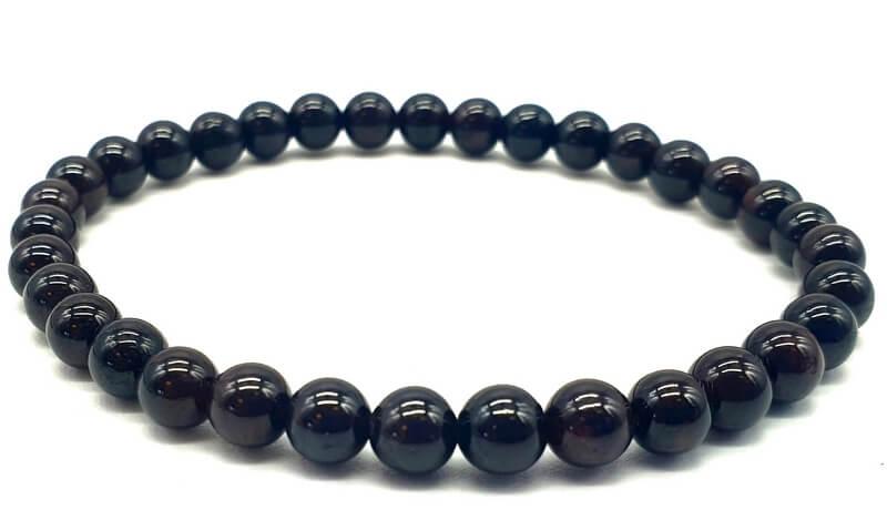 Bracciale Granato perline 6mm