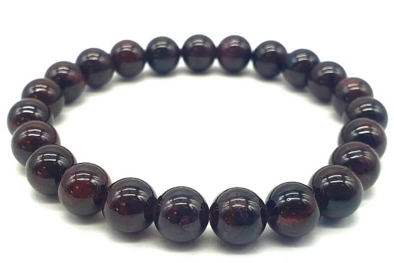 Bracciale Granato perle 8mm