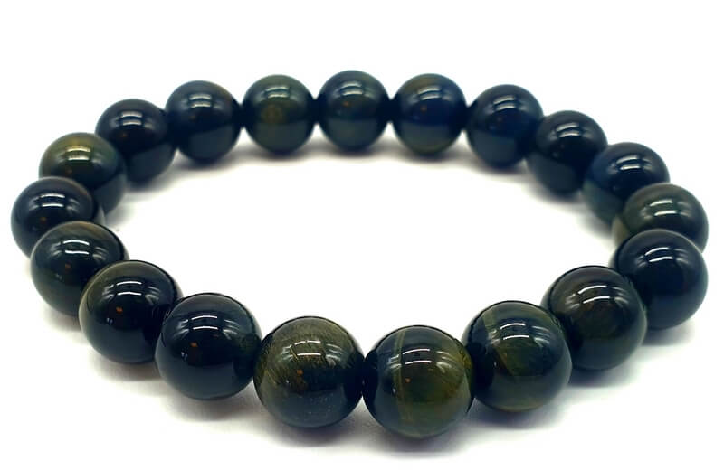 Bracelet Oeil de Faucon Naturel perles 10mm