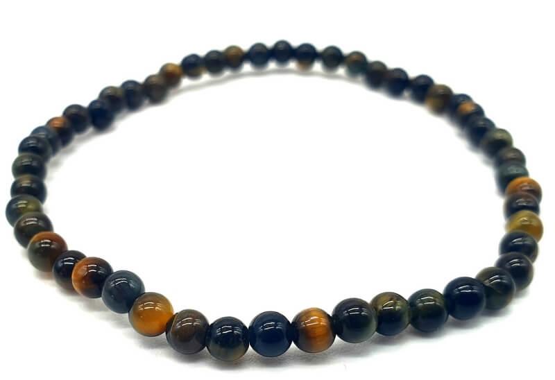 Bracelet Oeil de Faucon perles 4mm