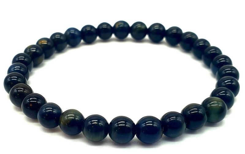Bracelet Oeil de Faucon Naturel perles 6mm