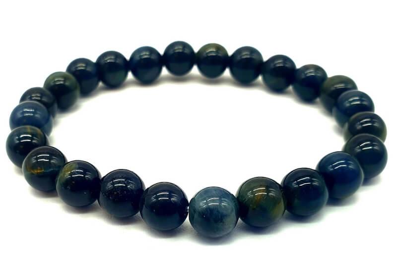 Bracelet Oeil de Faucon Naturel perles 8mm