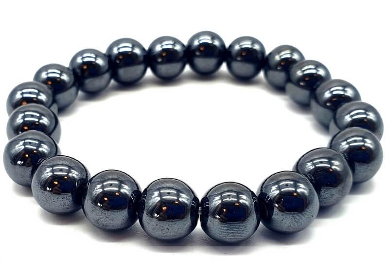 Bracelet Hematite perles 10mm