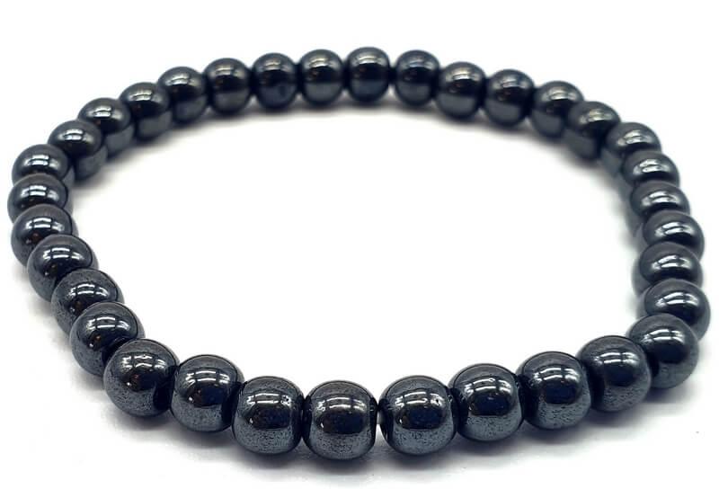 Bracelet Hematite perles 6mm