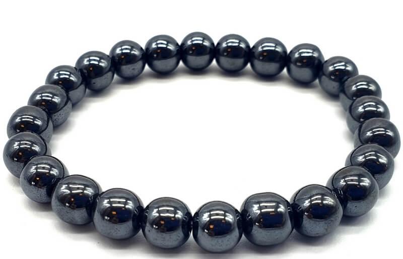 Bracelet Hematite perles 8mm