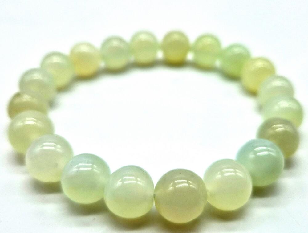 Bracciale in giada verde perline 10mm