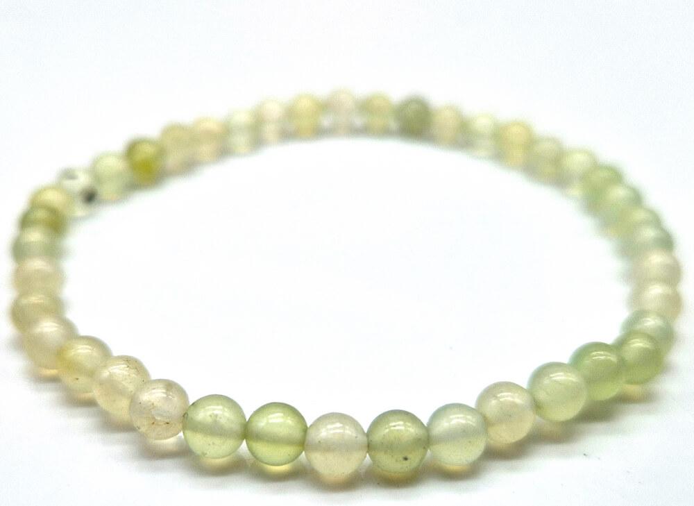 Bracciale in giada verde perline 4mm