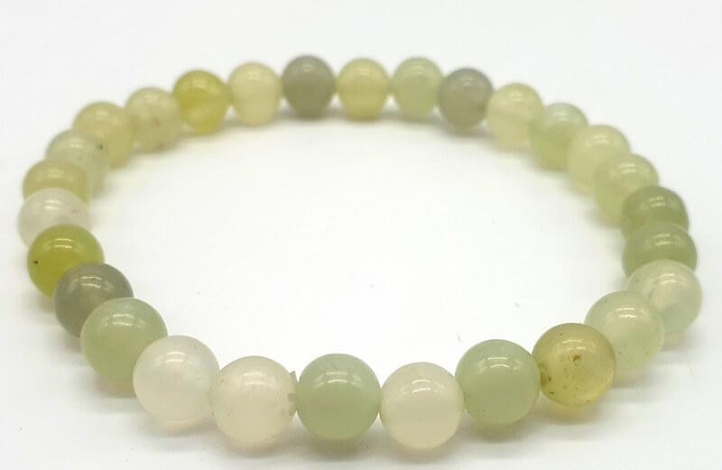 Bracelet Jade Verte perles 6mm
