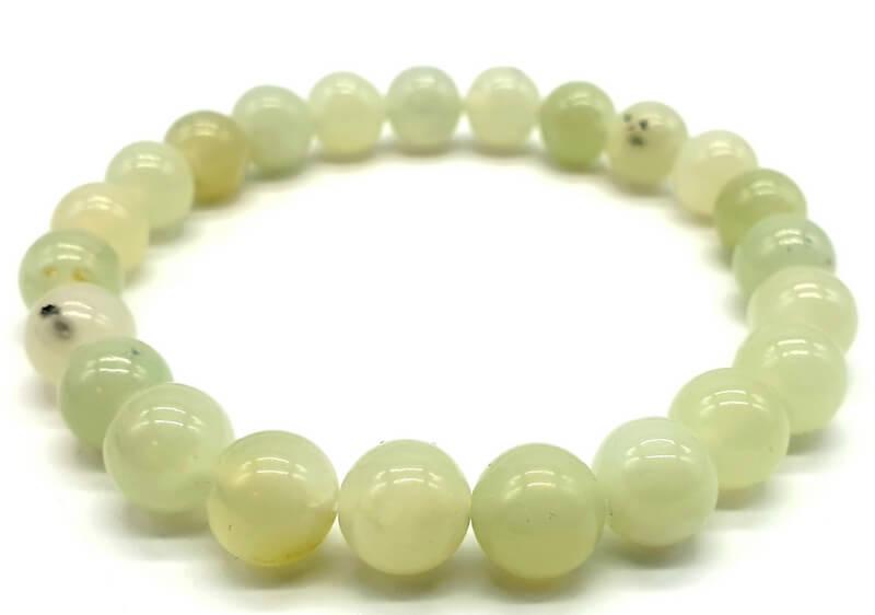 Bracciale Giada Verde perle 8mm