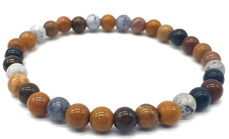 Bracelet Jaspe Océan perles 6mm