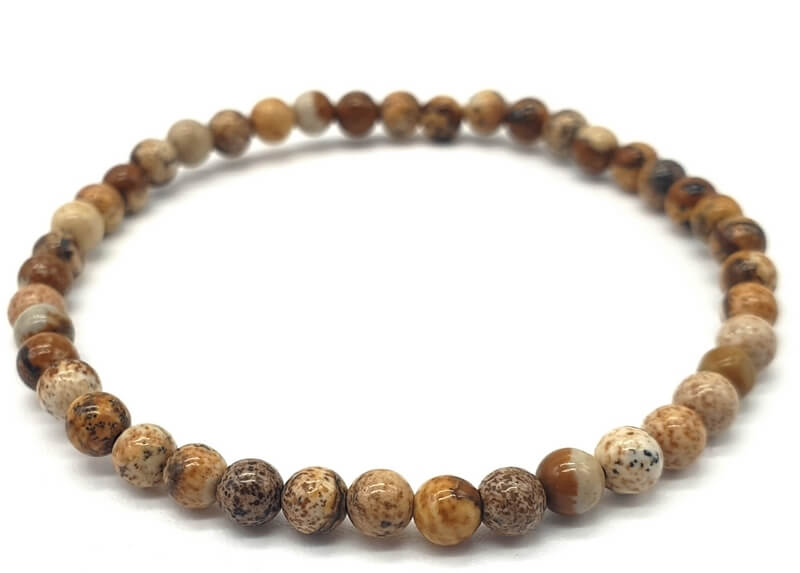 Bracelet Jaspe Paysage perles 4mm